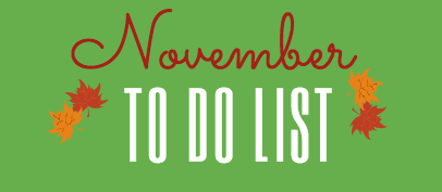 November To Do List